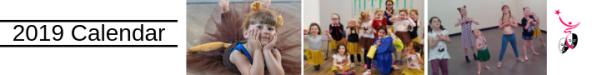 2019 Calendar React Dance Academy, Kenton Newcastle